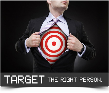 target the right person